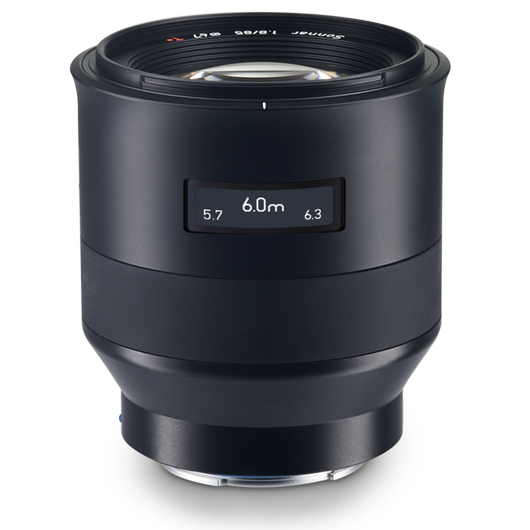 ZEISS Batis 1.8/85 for Sony Mirrorless Cameras (E-mount) product photo frontv2 PDP