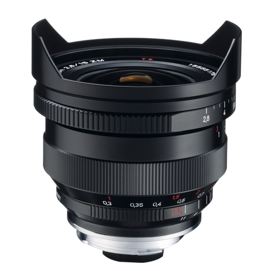 ZEISS Distagon T* 2,8/15 ZM for Leica Rangefinder Cameras (M-mount), incl. Centerfilter, Black product photo frontv1 PDP