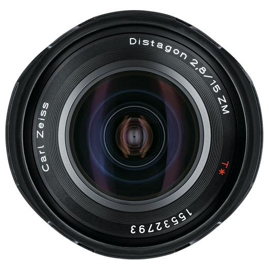 ZEISS Distagon T* 2,8/15 ZM for Leica Rangefinder Cameras (M-mount), incl. Centerfilter, Black product photo frontv2 PDP