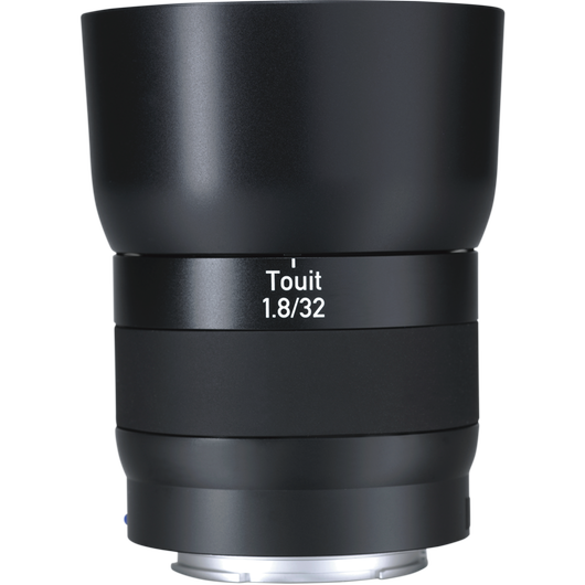 ZEISS Touit 1.8/32 for Sony or Fujifilm Mirrorless APS-C Cameras product photo frontv1 PDP