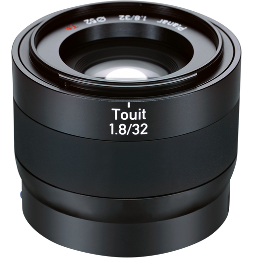 ZEISS Touit 1.8/32 for Sony or Fujifilm Mirrorless APS-C Cameras product photo frontv2 PDP