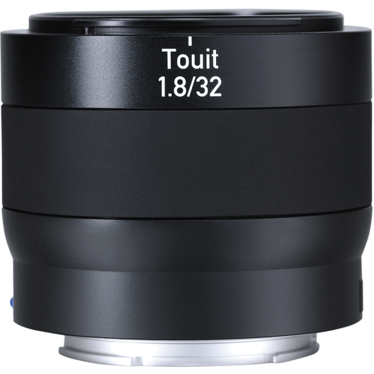 ZEISS Touit 1.8/32 for Sony or Fujifilm Mirrorless APS-C Cameras product photo frontv3 PDP