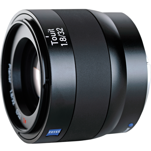 ZEISS Touit 1.8/32 for Sony or Fujifilm Mirrorless APS-C Cameras product photo frontv4 PDP