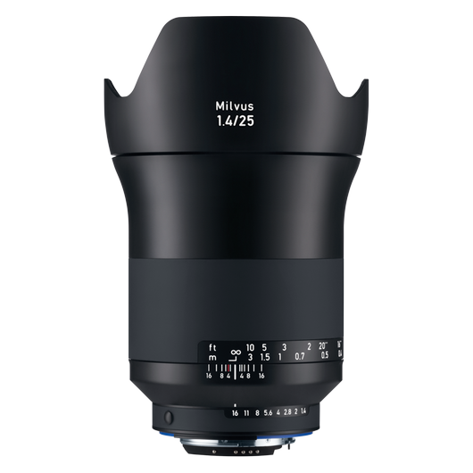 ZEISS Milvus 1.4/25 for Nikon DSLR Cameras (F-mount) product photo frontv1 PDP