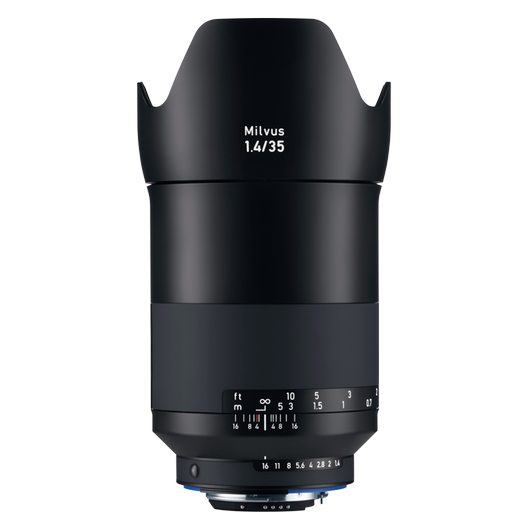 ZEISS Milvus 1.4/35 for Nikon DSLR Cameras (F-mount) product photo frontv1 PDP