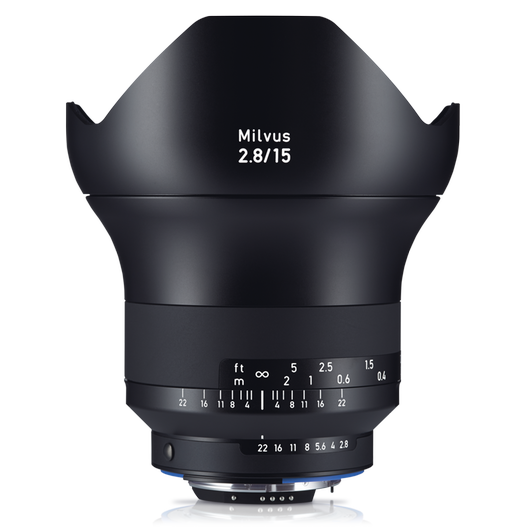 ZEISS Milvus 2.8/15 for Canon or Nikon SLR Cameras product photo frontv1 PDP