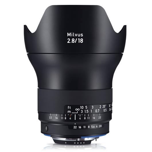 ZEISS Milvus 2.8/18 for Nikon DSLR Cameras (F-mount) product photo frontv1 PDP